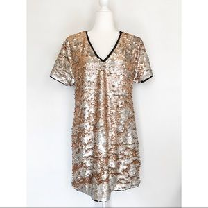1. State Moody Hues Sequined T-Shirt Dress Size M